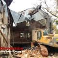 Демонтаж крыши здания